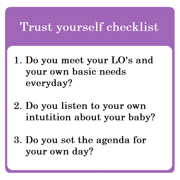 Trust yourself checklist 1