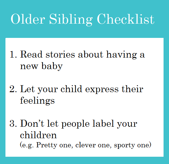 Older Sibling Checklist