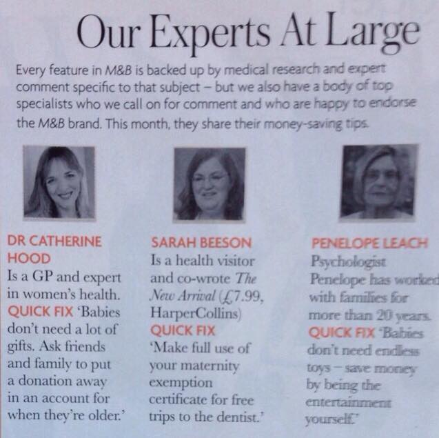 Experts Sarah Mother and Baby Nov 2014 issue