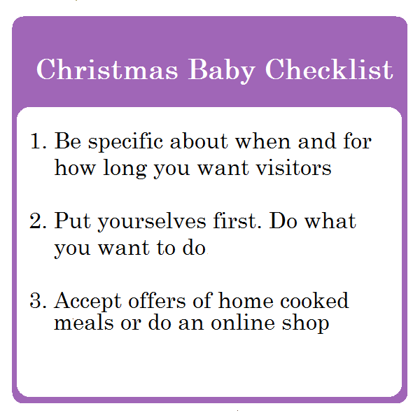 Christmas Baby Checklist